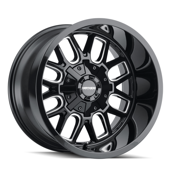 MAYHEM 8107-2976BM COGENT (8107) GLOSS BLACK/MILLED SPOKES 20X9 8-165.1/8-170 0mm 130.8mm