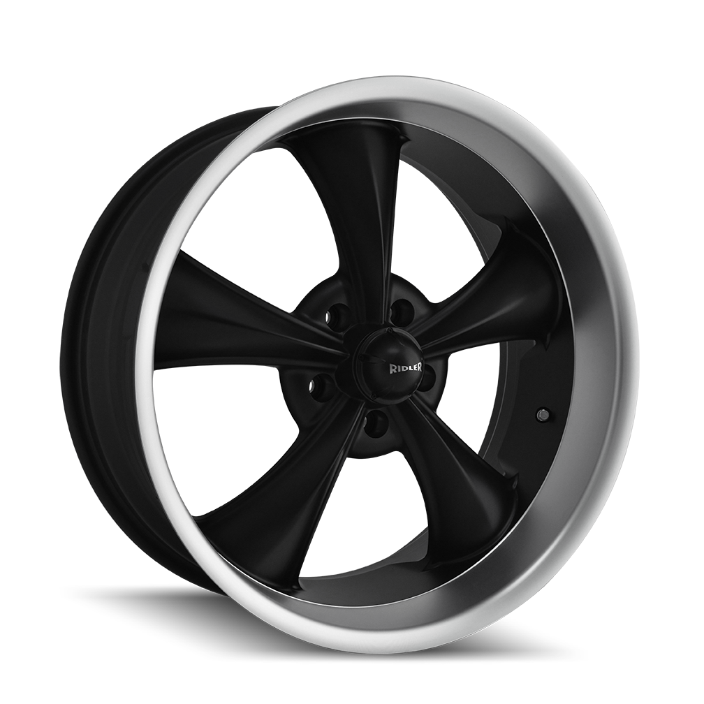RIDLER 695-8865MB 695 (695) MATTE BLACK/MACHINED LIP 18X8 5-114.3 0MM 83.82MM