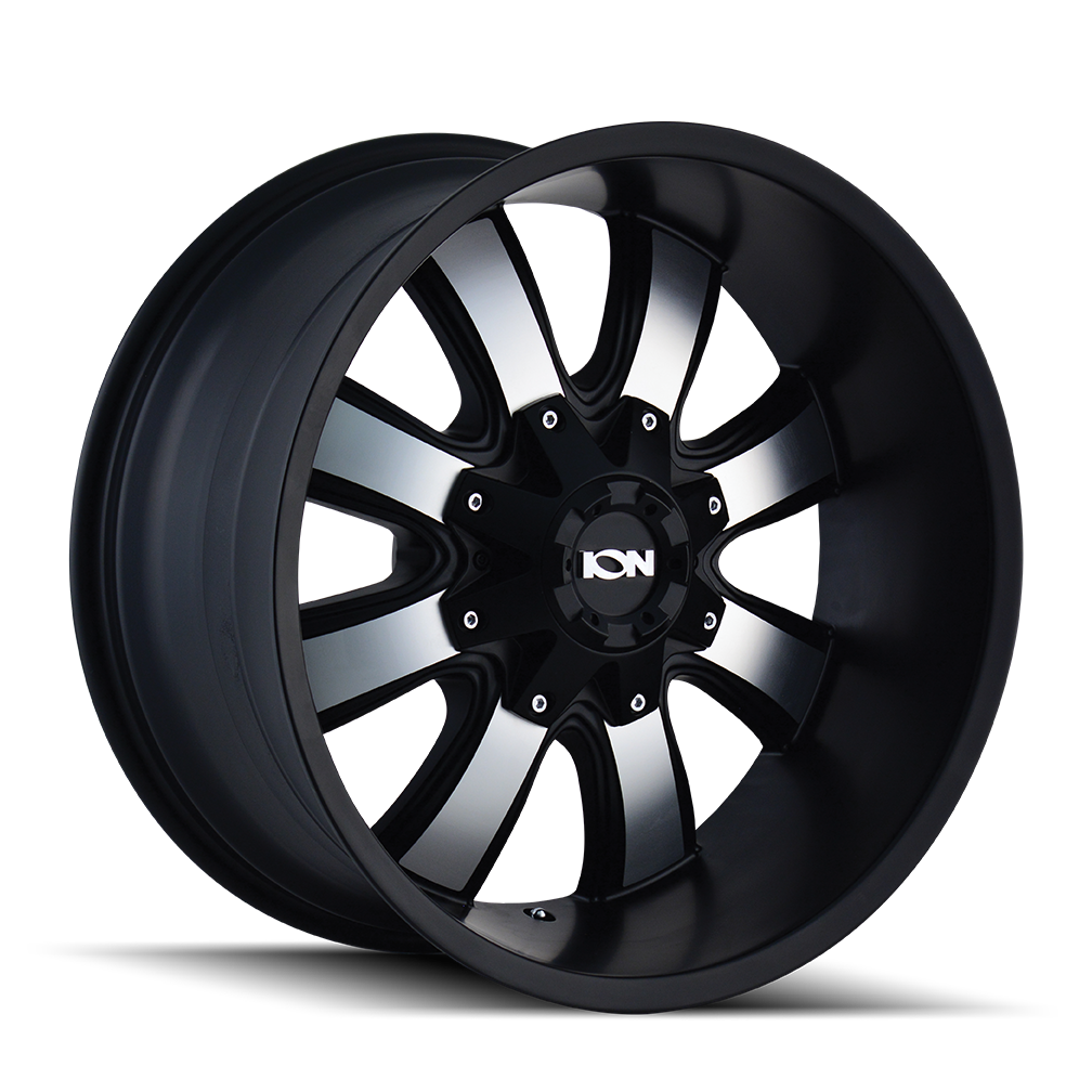 ION 189-7956B 189 (189) SATIN BLACK/MACHINED FACE 17X9 5-114.3/5-127 -12MM 87MM