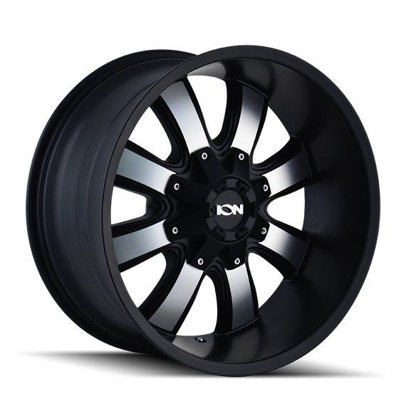 ION 189-7952B 189 (189) SATIN BLACK/MACHINED FACE 17X9 5-127/5-139.7 -12MM 87MM