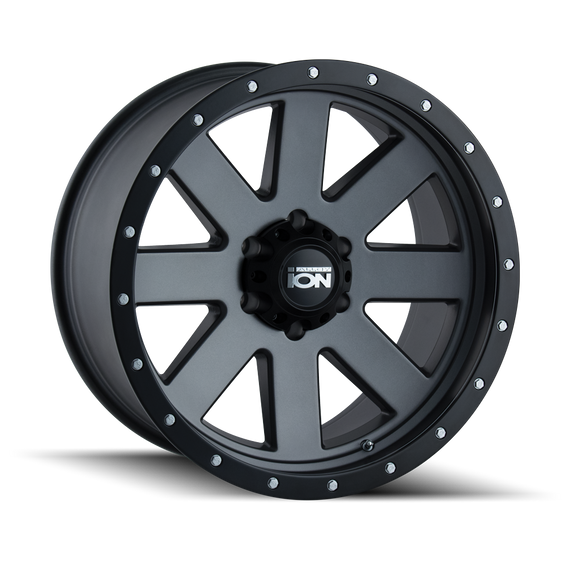 ION 134-8983MG 134 (134) MATTE GUNMETAL/BLACK BEADLOCK 18X9 6-139.7 0MM 106MM
