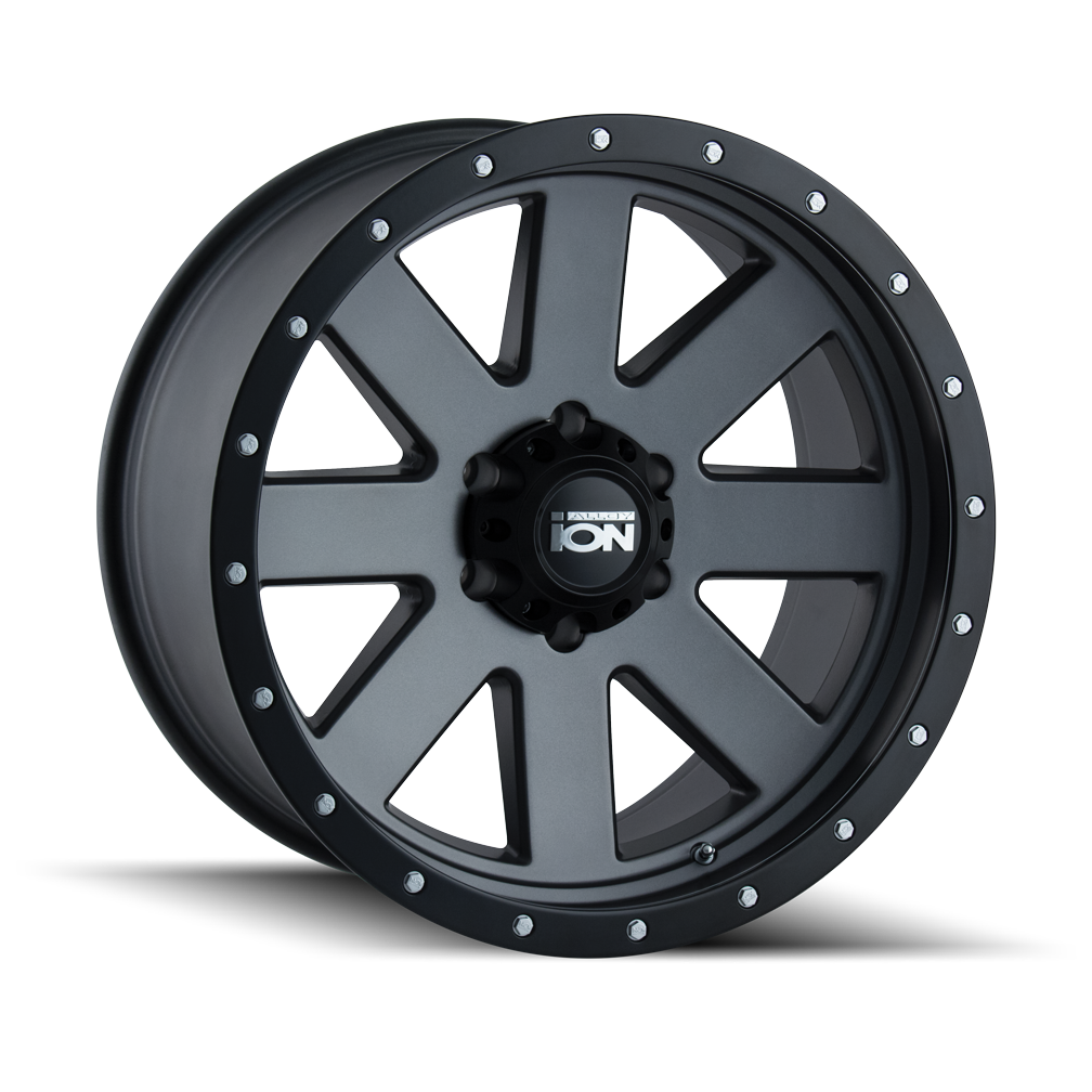 ION 134-8173MG 134 (134) MATTE GUNMETAL/BLACK BEADLOCK 18X10 5-127 -19MM 83.82MM