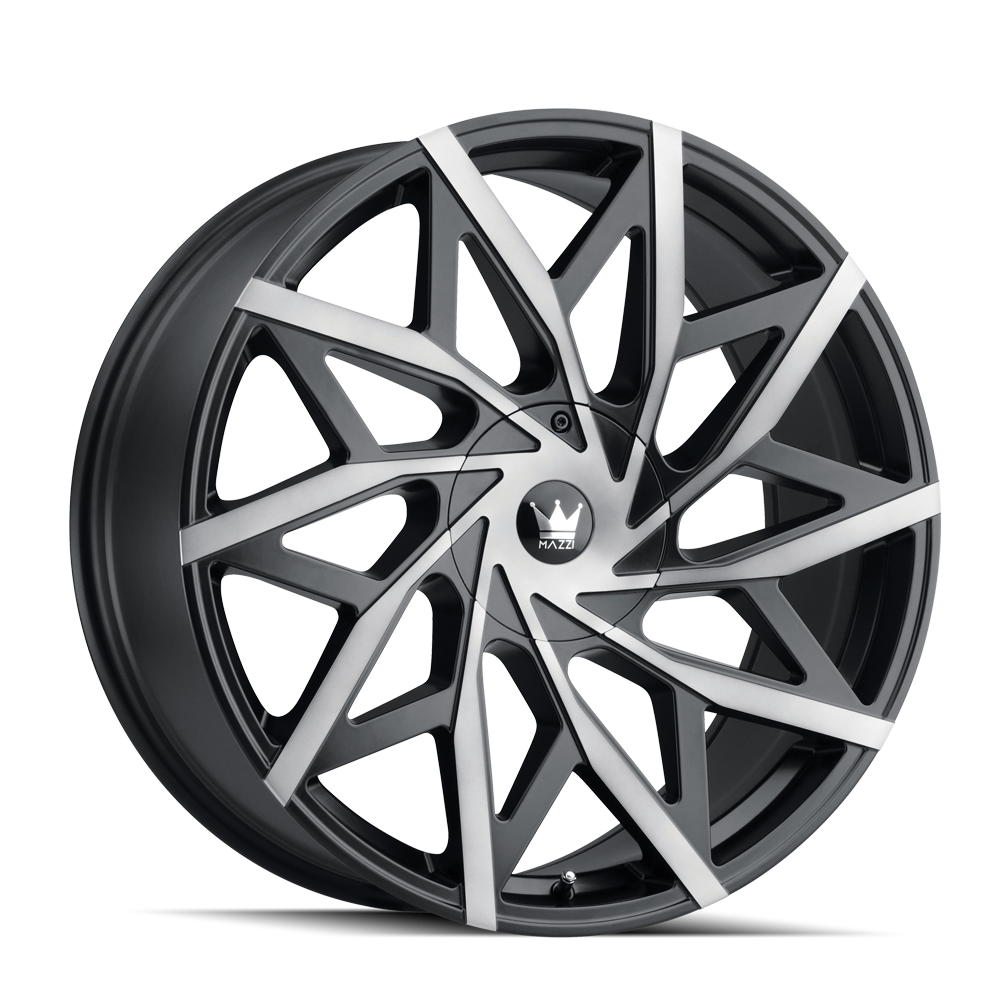 MAZZI 372-8811TM BIG EASY (372) MATTE BLACK W/DARK TINT 18X8 5-110/5-115 35mm 72.6mm