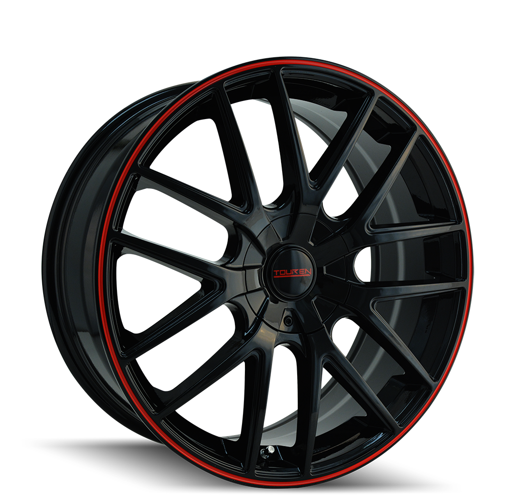 TOUREN 3260-8811BR TR60 (3260) BLACK/RED RING 18X8 5-110/5-115 40MM 72.62MM