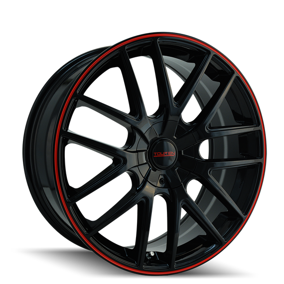 TOUREN 3260-6703BR TR60 (3260) BLACK/RED RING 16X7 5-100/5-114.3 42MM 72.62MM