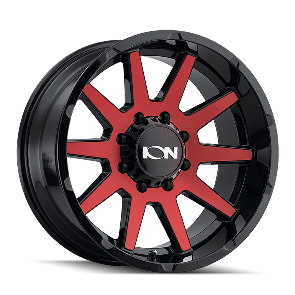 ION 143-2936BTR18 143 (143) GLOSS BLACK/RED MACHINED 20X9 6-135 18mm 87.1mm