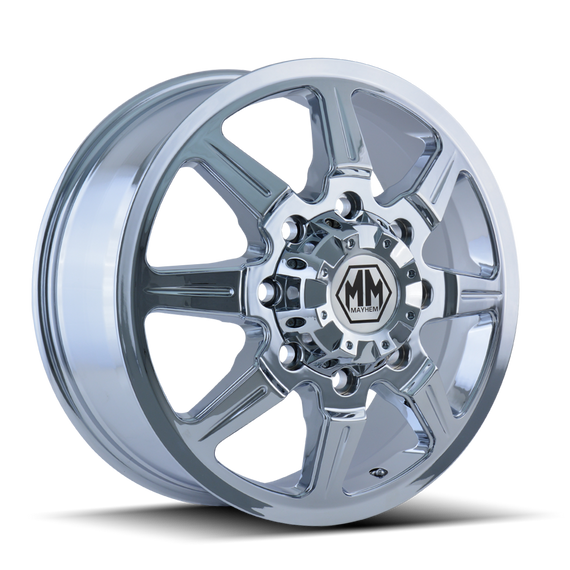 MAYHEM 8101-2881CF121 MONSTIR (8101) FRONT CHROME 20X8.25 8-165.1 127MM 121.3MM