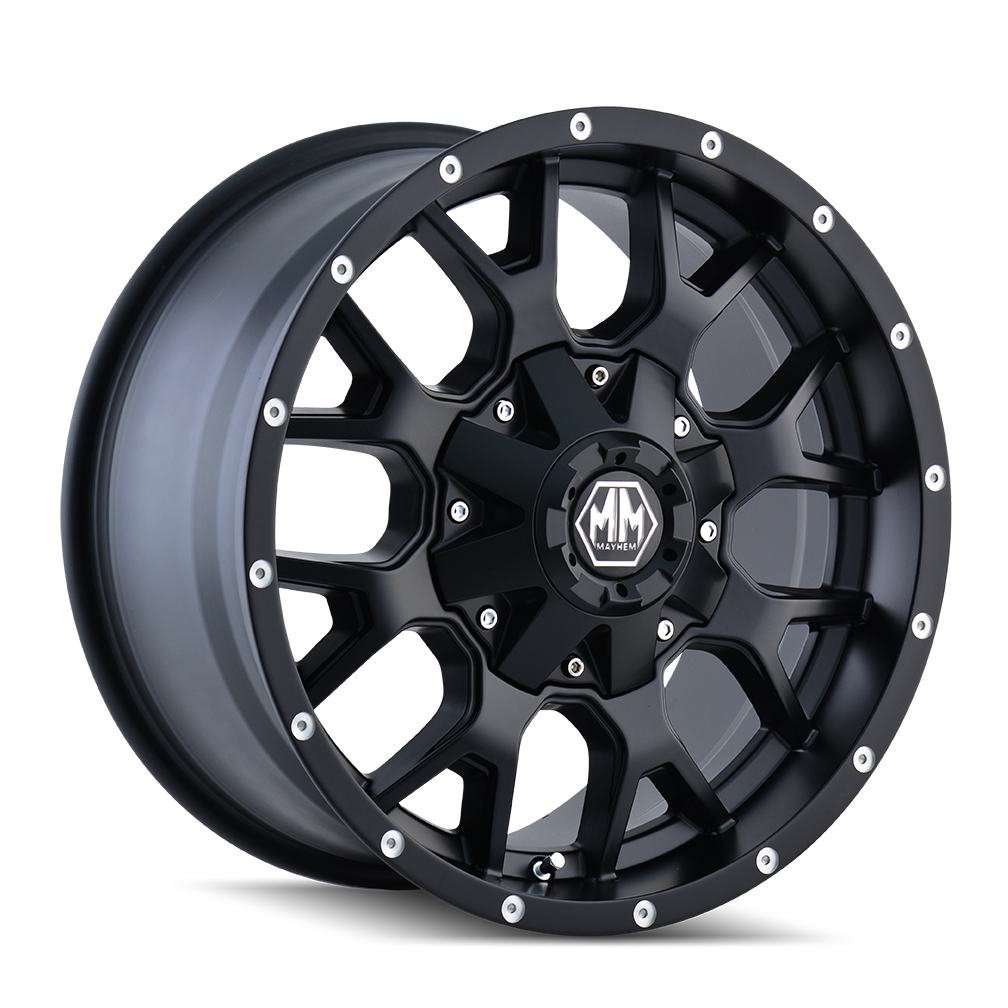 MAYHEM 8015-7956MB18 WARRIOR (8015) MATTE BLACK 17X9 5-114.3/5-127 18MM 87MM