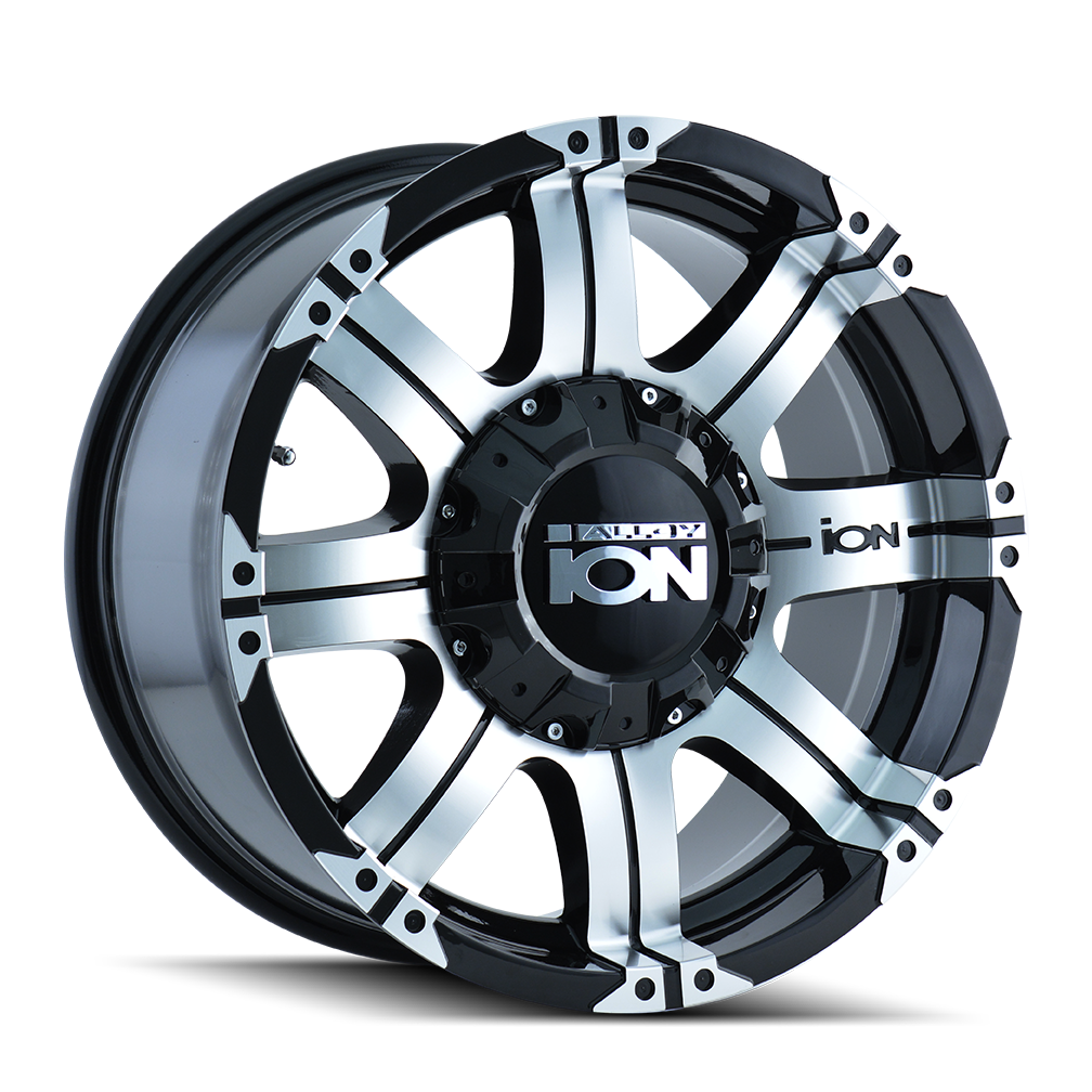 ION 187-8997B 187 (187) BLACK/MACHINED FACE/MACHINED LIP 18X9 5-139.7/5-150 -12MM 110MM