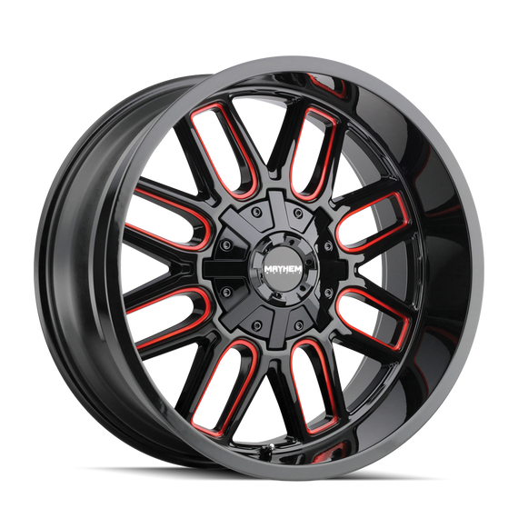 MAYHEM 8107-2997BTR COGENT (8107) BLACK W/PRISM RED 20X9 5x5.5/5x150 0mm 110mm