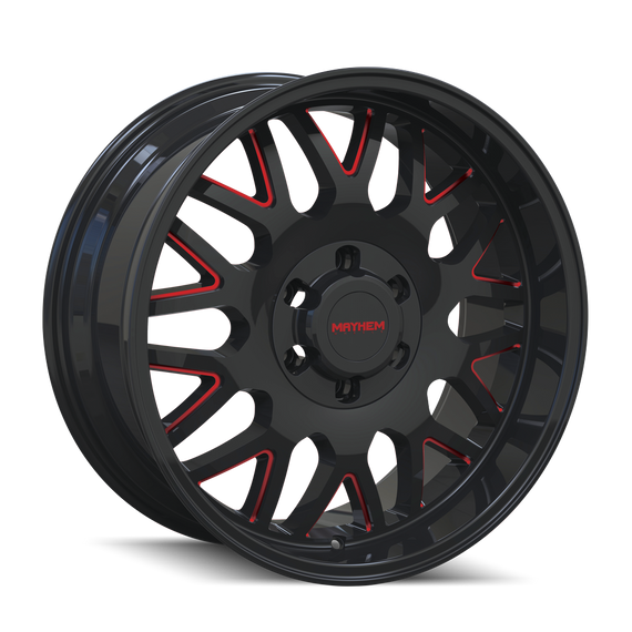 MAYHEM 8110-2981BTR TRIPWIRE (8110) BLACK W/PRISM RED 20X9 8-165.1 0mm 130.8mm