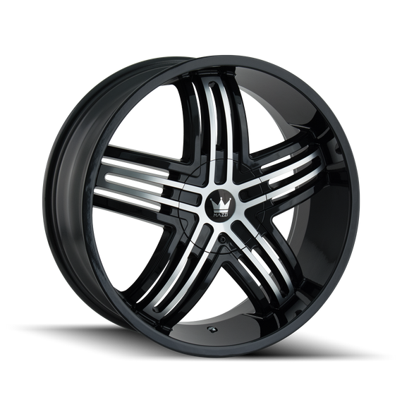 MAZZI 368-2811B ENTICE (368) GLOSS BLACK/MACHINED FACE 20X8.5 5-110/5-115 35MM 72.62MM