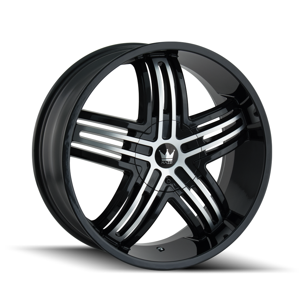 MAZZI 368-2837B ENTICE (368) GLOSS BLACK/MACHINED FACE 20X8.5 6-135/6-139.7 30MM 106MM