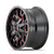 MAYHEM 8015-2137BTR WARRIOR (8015) BLACK W/PRISM RED 20X10 6-135/6-139.7 -25mm 106mm
