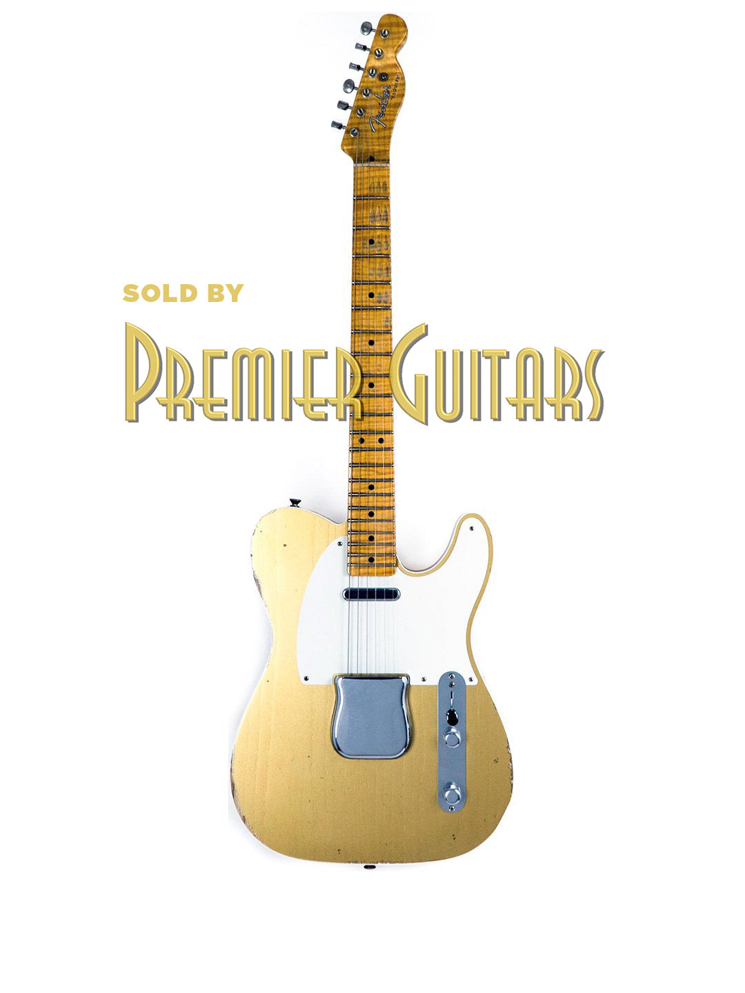 SOLD Fender Custom Shop Limited Edition Double Esquire NAMM Special -Journeyman Relic Aztec Gold - USA 2018 - $5,495.00