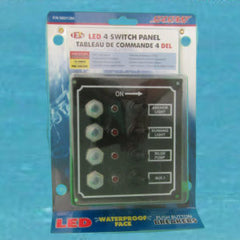 4 Gang Toggle Switch with Breakers - Waterproof