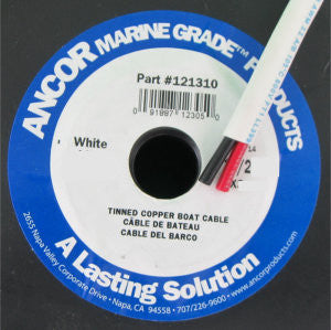 18/2 AWG - 5' White Marine Wire