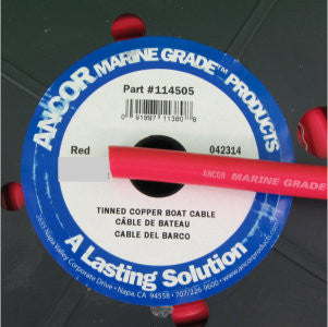 1/0 AWG - 20' Red Marine Wire