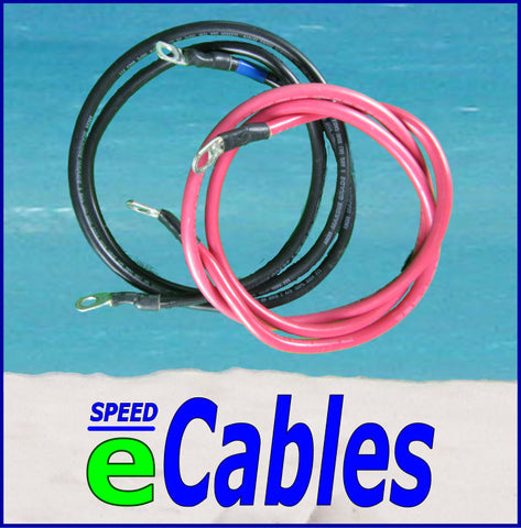 "6 AWG Pair -  18"" Red/Black"