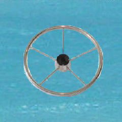 Destroyer Style Stainless Boat Steering Wheel