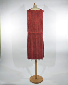 robe de collection brodée de perles années '1920 collector's dress embroidered with glassbeads