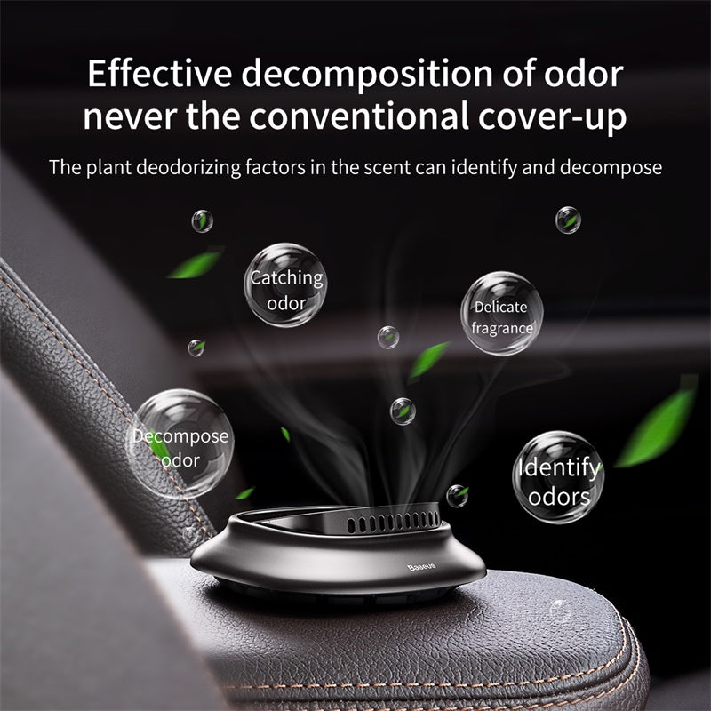 Baseus Little Volcano Vehicle-mounted Fragrance Holder Grey (Cologne *2+ lemon *1+ ocean *1)