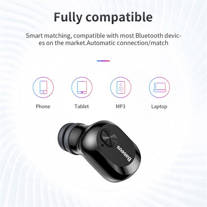 Baseus Encok True Wireless Earphones for iphone W01 White - TechBeans Inc.