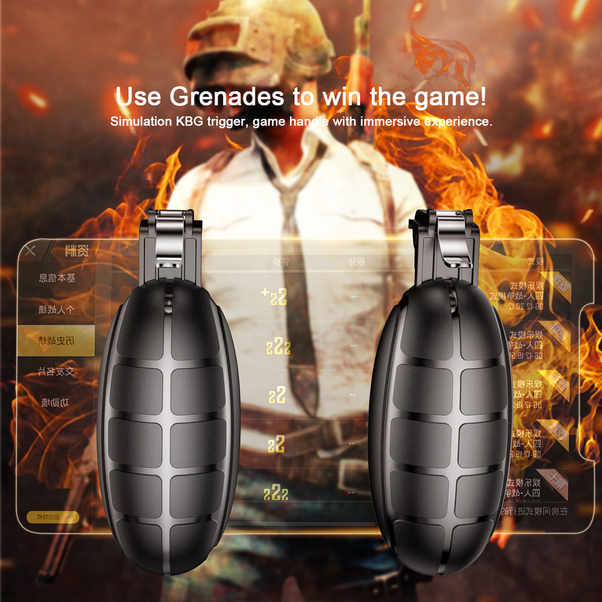 Baseus Grenade Remote controller for iphone games Black.