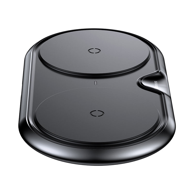 Baseus Dual Wireless Charger(Plastic style)(CN) Black
