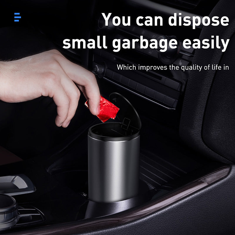Baseus Vehicle-mounted Car Trash Can with Lid Dark gray