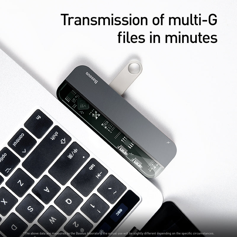 Baseus Transparent Dual Type-C Multifunctional Adaptor