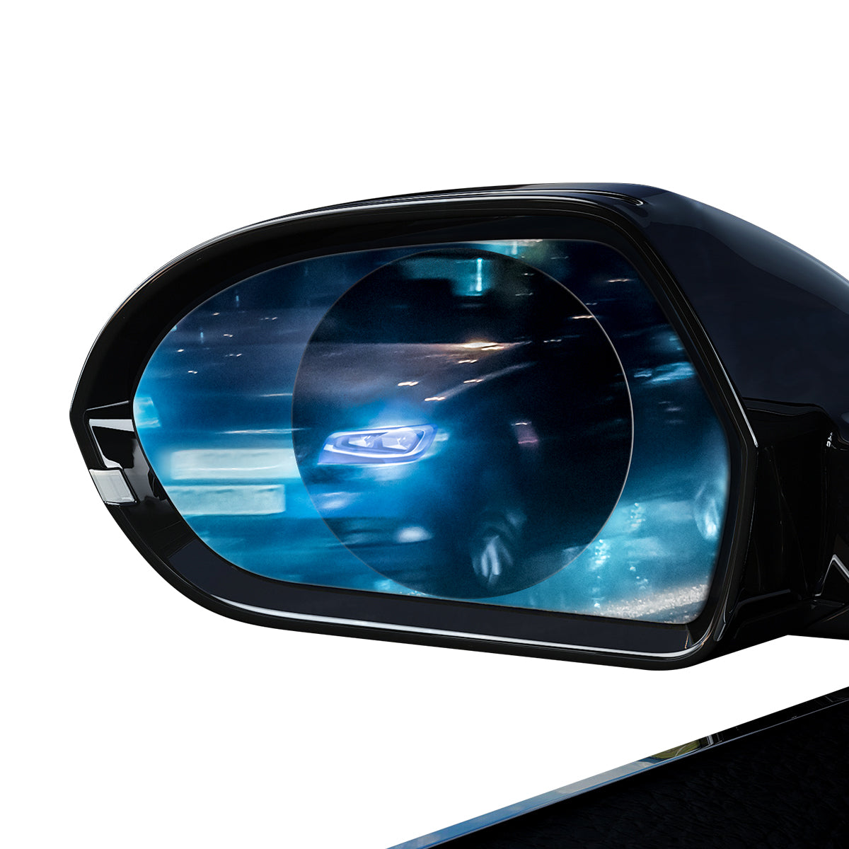 Baseus 0.15mm Rainproof Film for Car Rear-View Mirror (Round 2 pcs/pack 95*95mm)Transparent