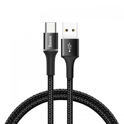 Baseus halo data USB to Type-C cable 3A 1m Black - TechBeans Inc.