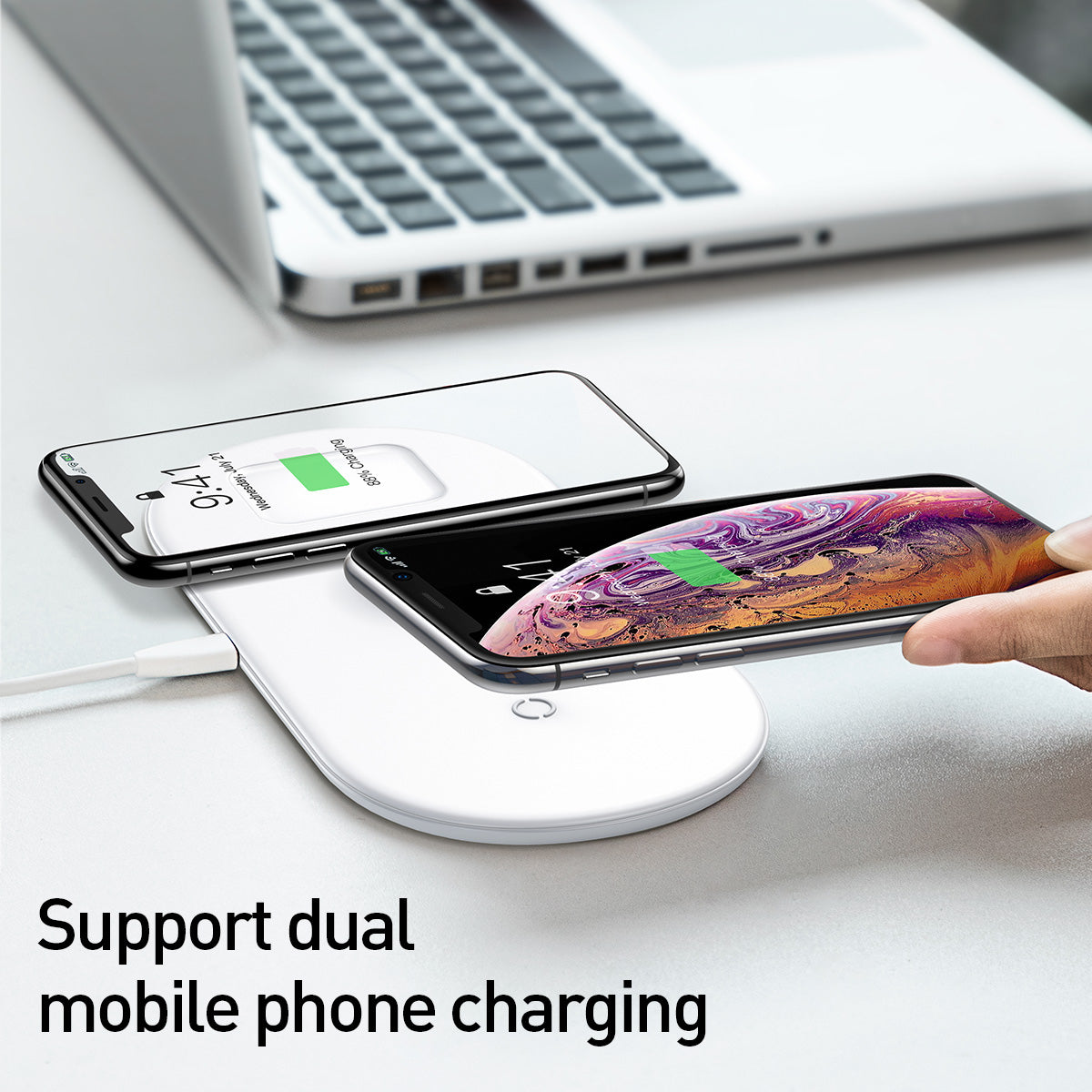Baseus Smart 3 in 1 Wireless Charger For Phone+Watch+Pods(18W MAX)White