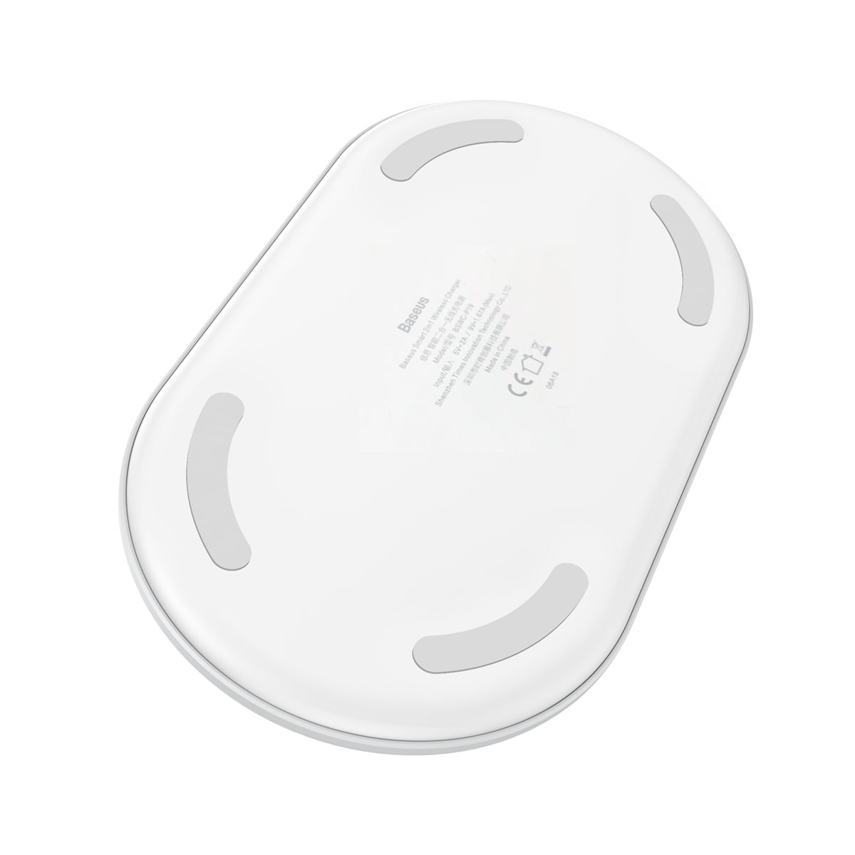 Baseus Smart 2in1 Wireless Charger White