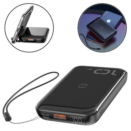 Baseus Mini S Bracket 10W Wireless Charger Power bank 10000mAh 18W Black