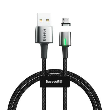 Baseus Zinc Magnetic Cable USB For iP 2.4A 1m Black