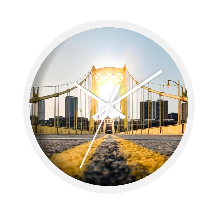 Pittsburgh Bridge Wall Clock - Pittsburgh Creations