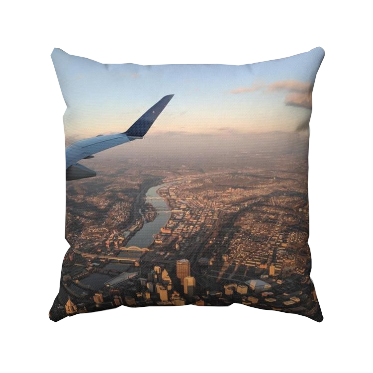 Pittsburgh Aerial View Throw Pillow - Pittsburgh Creations