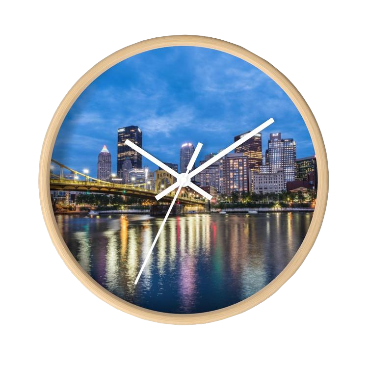 Pittsburgh Skyline Wall clock - Pittsburgh Creations