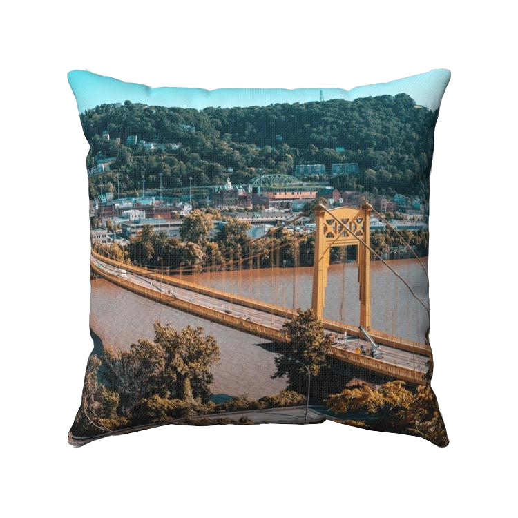 Pittsburgh Bridge Throw Pillow - Pittsburgh Creations