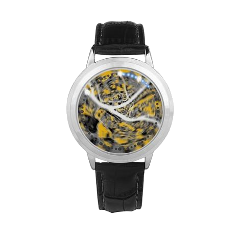 Pittsburgh Black and Yellow Aerial Map Led Watch - Pittsburgh Creations