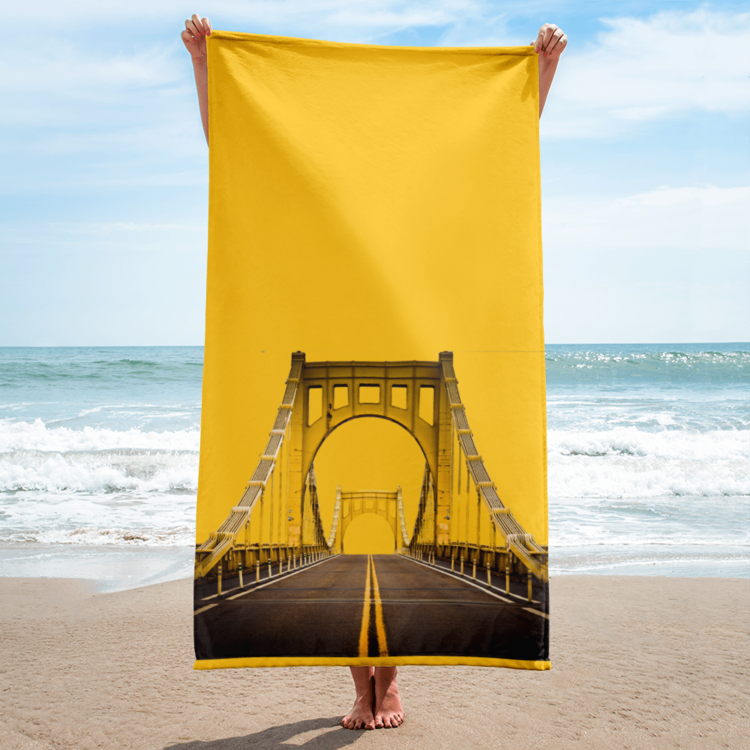 Pittsburgh Bridge Beach Towel - Pittsburgh Creations