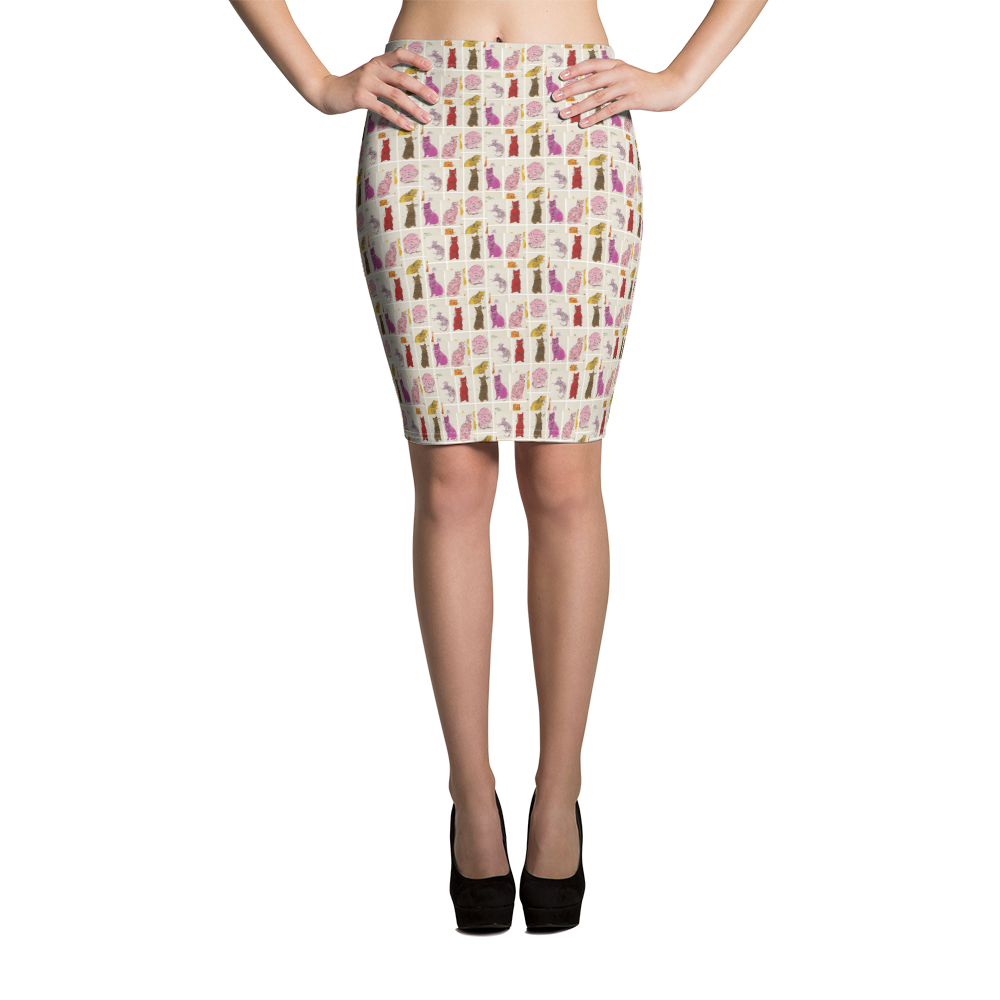 Andy Warhol Inspired Cats Skirt - Pittsburgh Creations