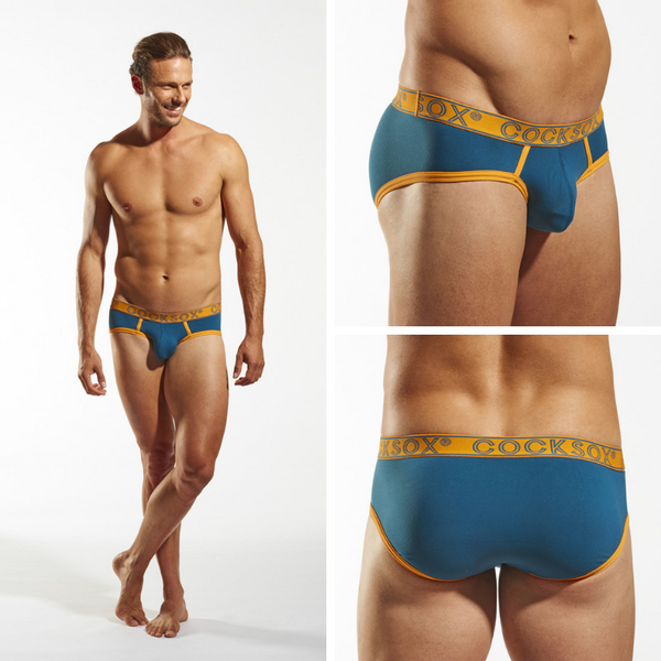 Catalogue images of the Cocksox CX76 men's underwear sports brief