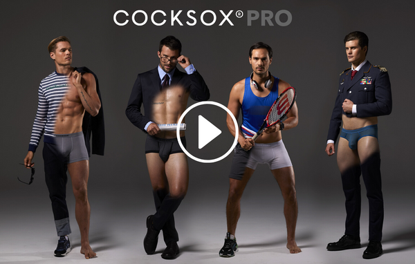 Link to Cocksox Pro Collection underwear promotional video