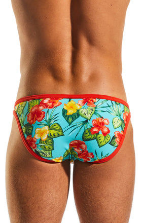 Cocksox CX01CR Underwear Brief in Hibiscus Cruise back body image
