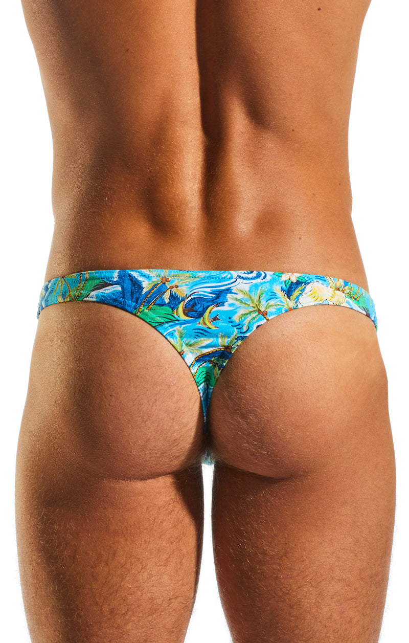 Cocksox CX05CR Underwear Thong in Paradise Palms back body image