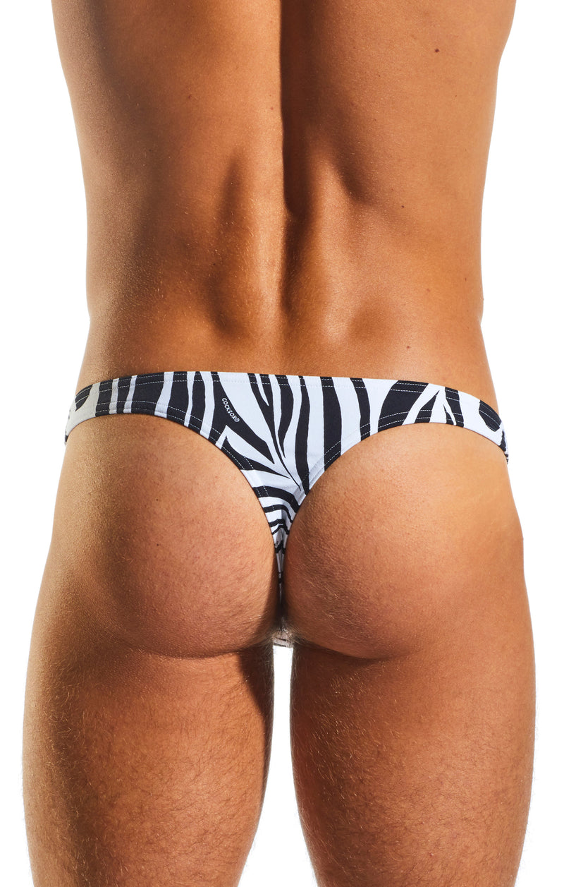 Cocksox CX05WD Underwear Thong in Zebra back body image