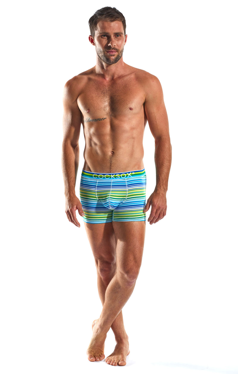 Cocksox CX12 Underwear Boxer in Topspin Stripe full body image